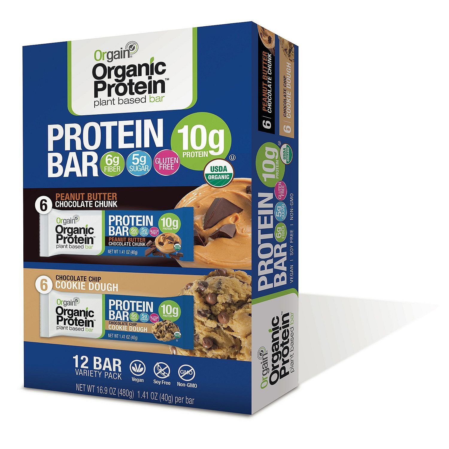 Orgain Protein Organic Protein Bar, 16.9 Ounce by Orgain Protein