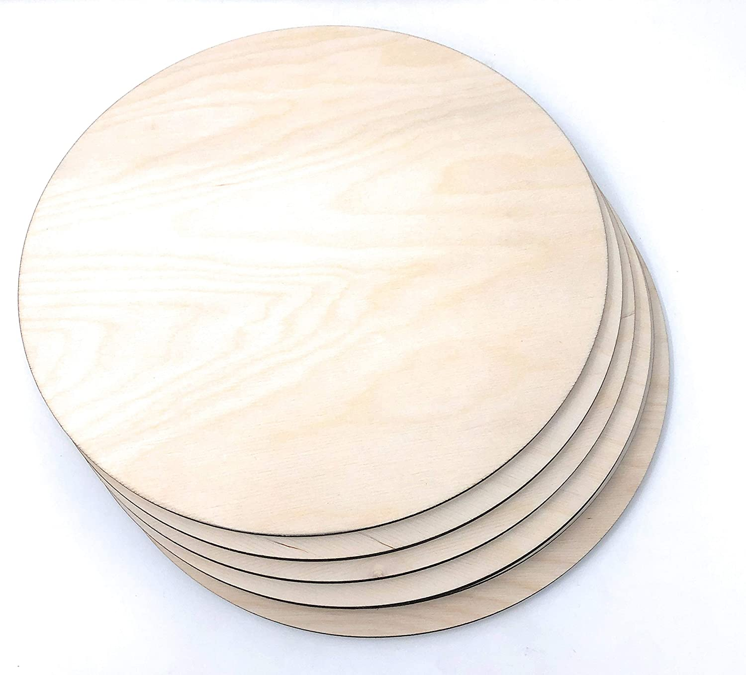 Gocutouts 9 Wooden Circle Cutouts Unfinished 1//4 Baltic Birch Package of 6 9 1//4 Package of 6