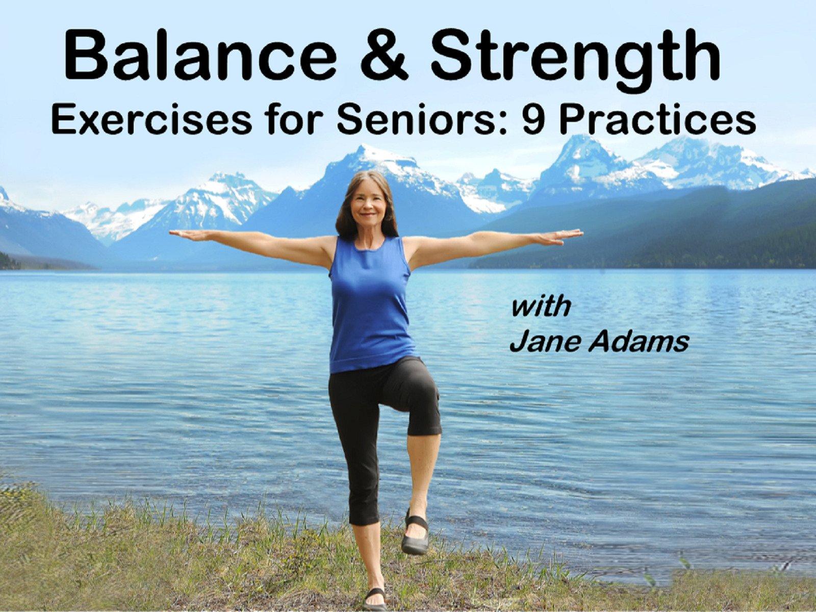 Amazon.com: Balance & Strength Exercises for Seniors: 9 Practices ...
