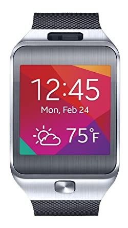 Amazon.com: Reloj inteligente Samsung Gear 2, Plateado ...