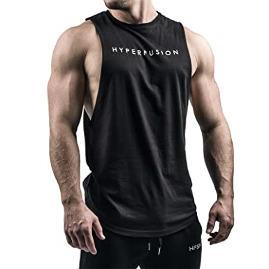 837cbf33b2198 Hyperfusion Phantom Cut Off Tank Muscle Shirt Tank Top Gym Fitness  Amazon. co.uk  Clothing