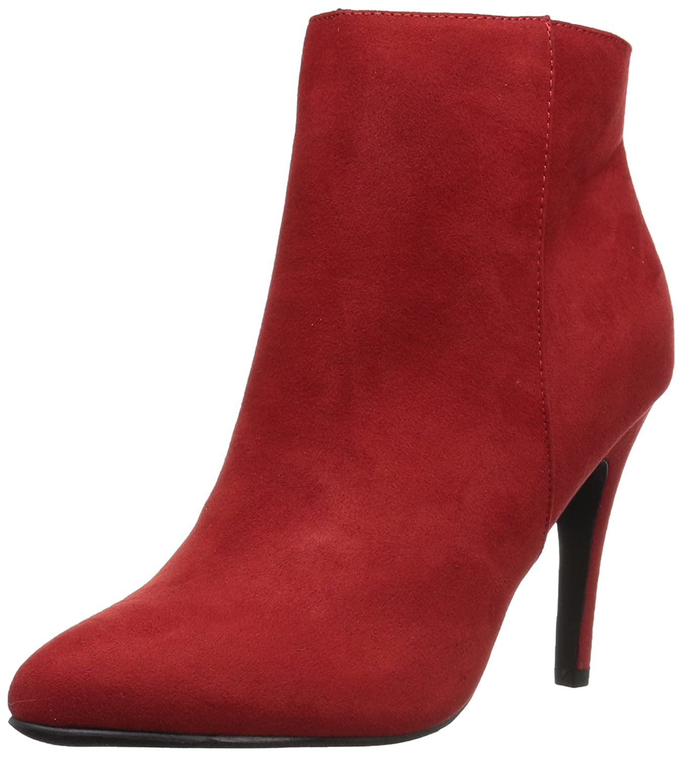 Madden Girl Women's Sally Ankle Bootie B077546SDP 6.5 B(M) US|Red Fabric