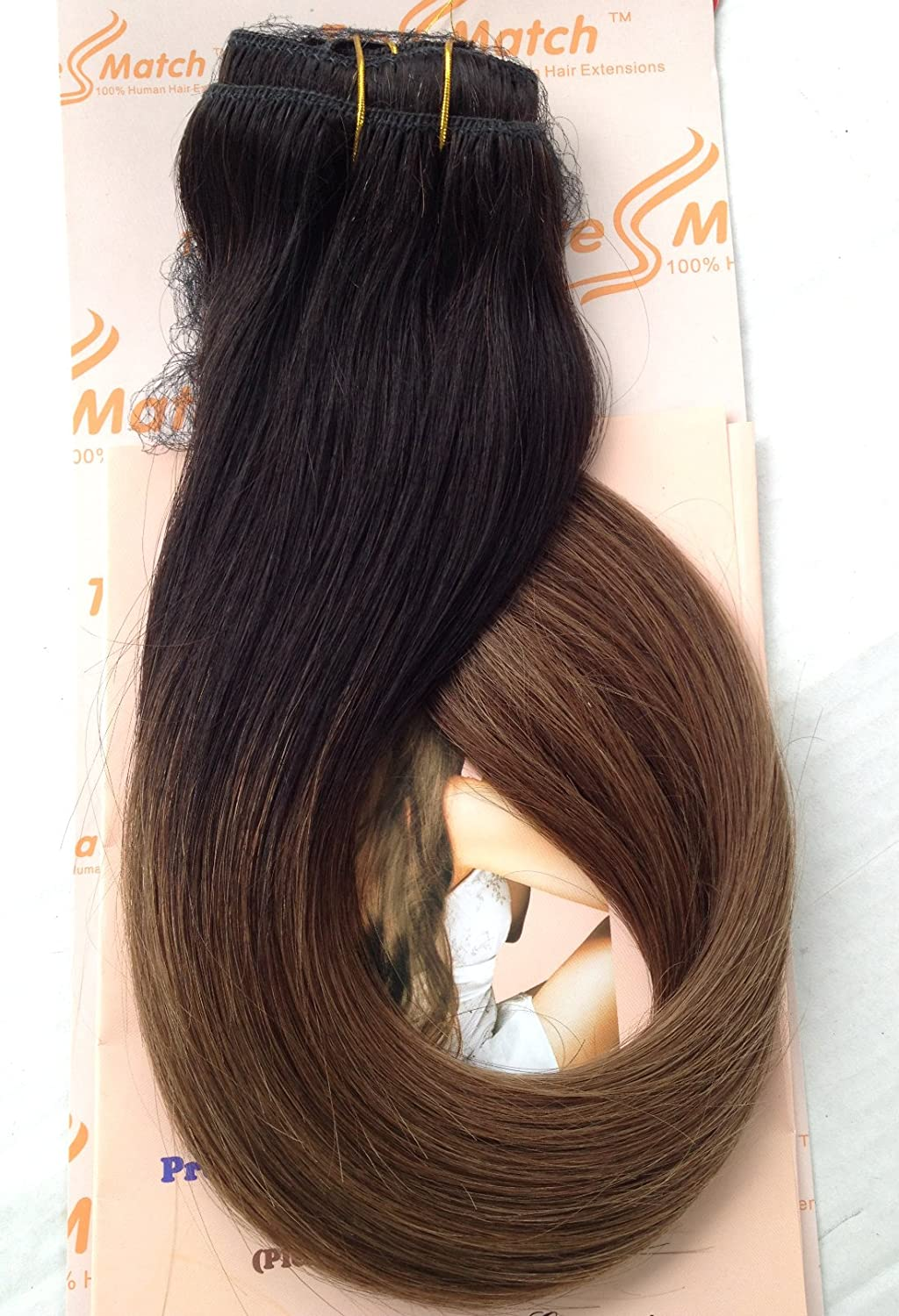 Amazon tressmatch 1618 remy human hair clip in amazon tressmatch 1618 remy human hair clip in extensions ombre off blackmediumchestnut brown full head volume set 9 piecespcs set pmusecretfo Gallery