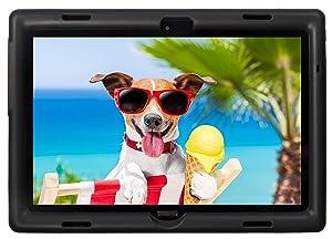 BobjGear Bobj Rugged Tablet Case for Lenovo Smart Tab M10 (TB-X605F, TB-X505F,I,L) and P10 (TB-X705F) Kid Friendly (Bold Black)