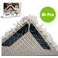Rug Gripper Carpet Corner Weights No Slip Anti Curling Non Sliding Double Sided Indoor Outdoor Adhesive Tape Pad Anchors Stickers Grip Hardwood Floor Reusable Washable Eco Friendly