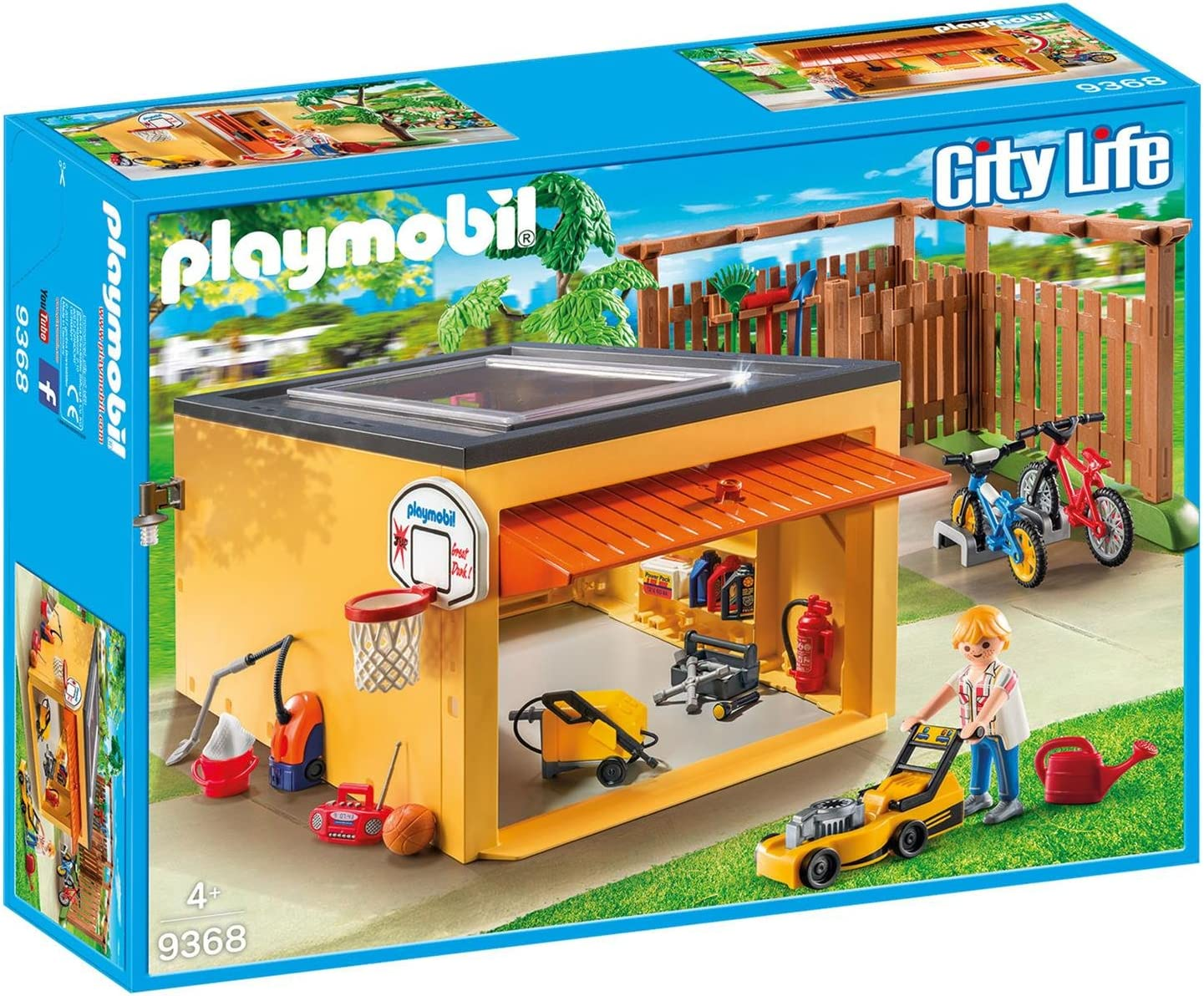 PLAYMOBIL 9368 Garaje con plaza para bicicletas, set exclusivo ...