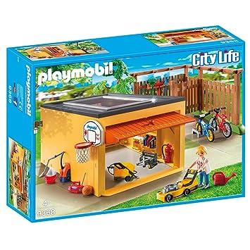 PLAYMOBIL 9368 Garaje con plaza para bicicletas, set exclusivo