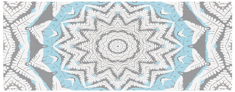 Kess InHouse Plant House Mandala Blue Bed Runner 34 x 86