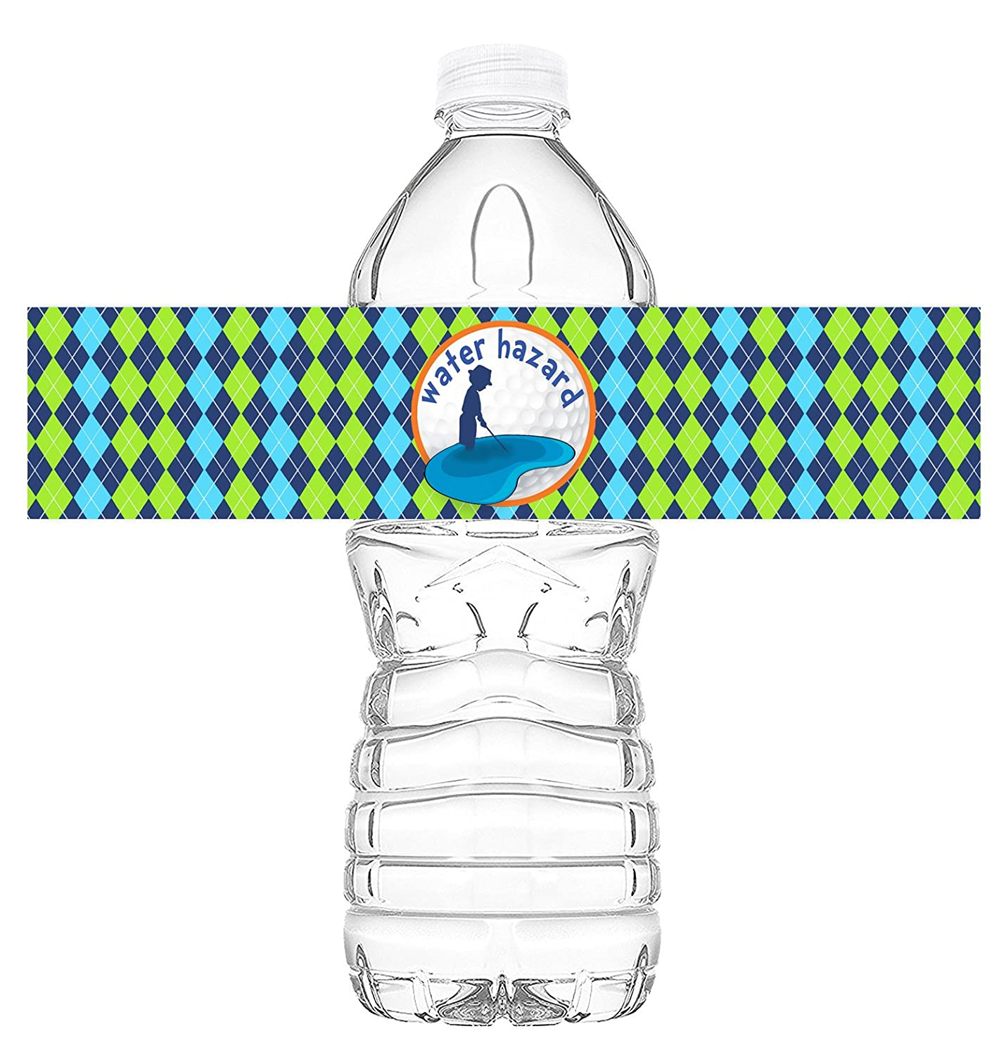 Golf Bottle Wraps - 20 Golf Water Bottle Labels - Golf Decorations - Made in the USA