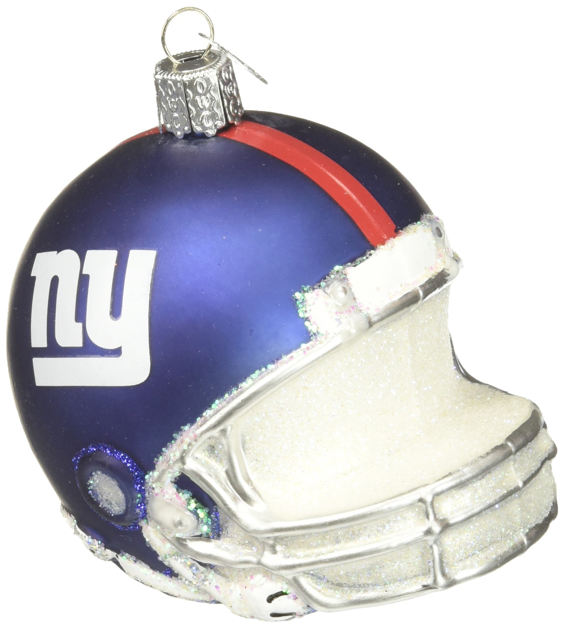 Amazon.com: Old World Christmas New York Giants Helmet Glass Blown ...