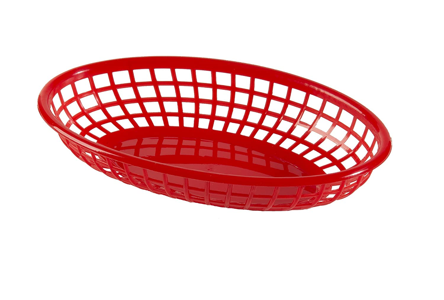 Update International (BB96R) Oval Fast Food Baskets [Set of 12]