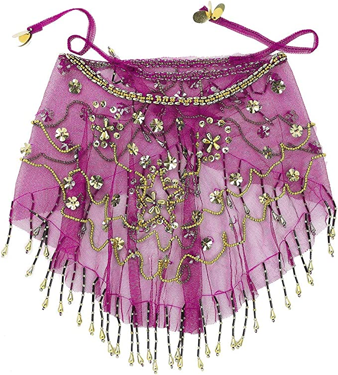 inhzoy Velo Danza del Vientre para Mujer Velo de Danza Árabe ...
