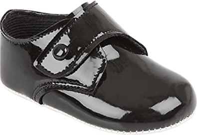 Sizes 0 1 2 3,NEW Baby Deer Girls Black Dressy Patent Shoes w//Satin Bows