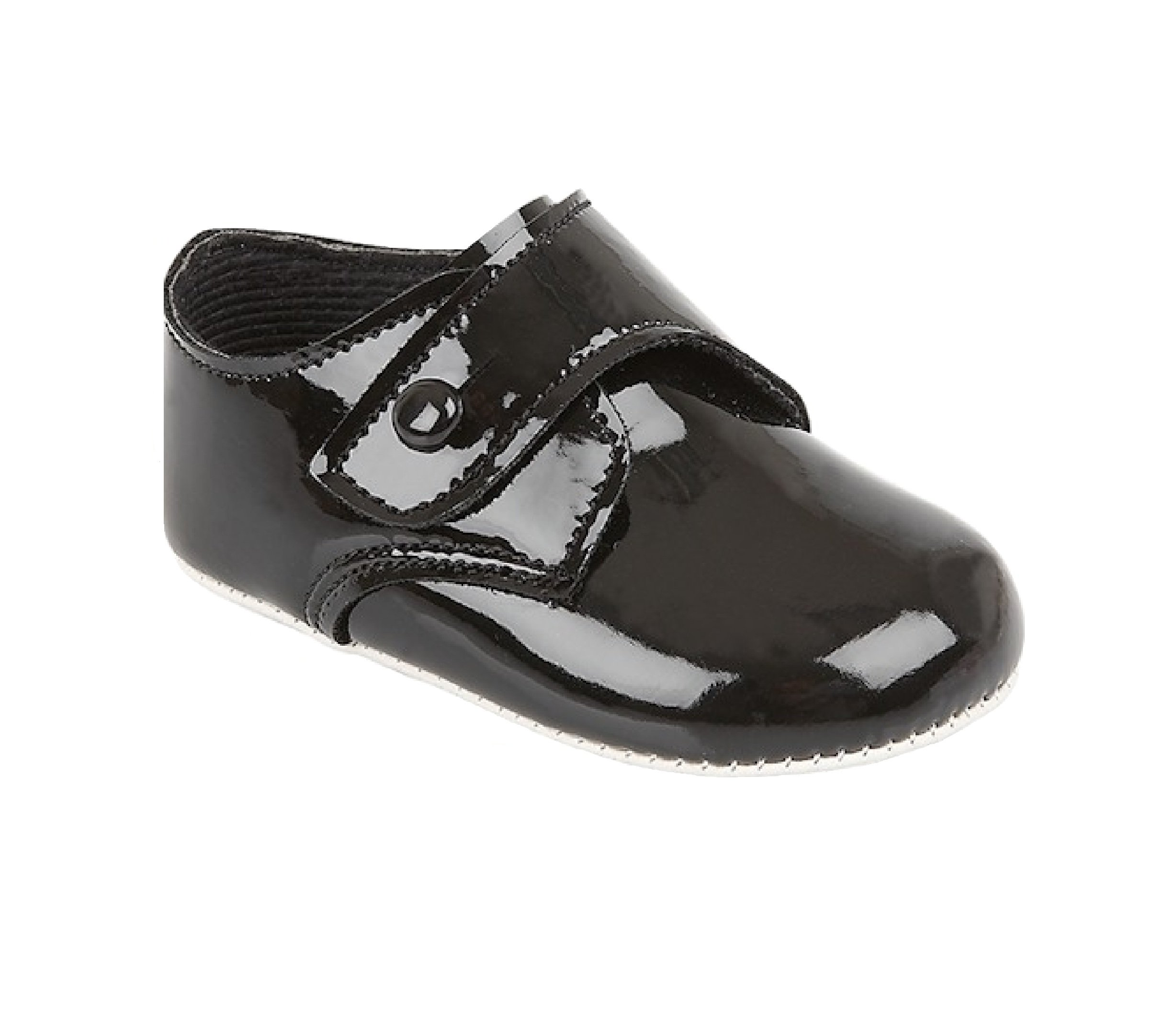 Black Patent Shoes for Baby Boy 0-3 Months 3.5'' Insole