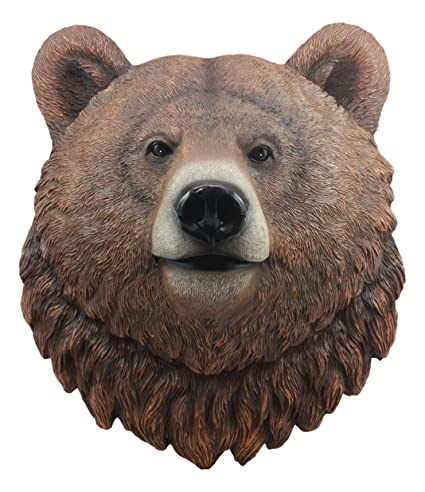 Amazon.com: Ebros Brutus Realistic Large Brown Grizzly Bear Head ...