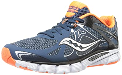 a3d99207 Saucony Men's Mirage 4 Running Shoe, Navy/Viziorange, 9. 5 M US: Buy ...