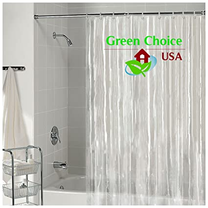 Amazon Heavyweight 100 PEVA Shower Curtain Liner Mildew