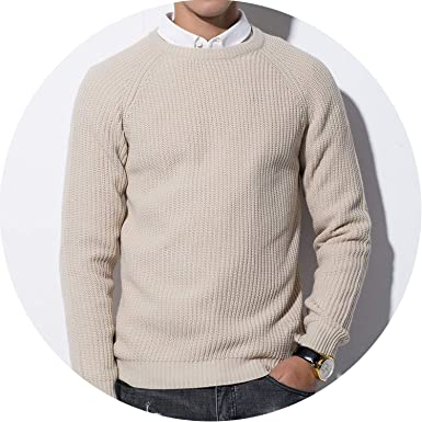 3Color Winter Men Pullover Sweaters Warm Thick Sweater Men