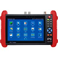 7 Inch Touch Screen 5 in 1 CCTV Tester Support Upt to 4K IP Camera & 720P/1080P/3.0mp/4.0mp/5.0 Megapixel AHD, TVI, CVI & CVBS Analog Camera, with Keyboard/IP Discovery/Rapid ONVIF/WiFi/APP