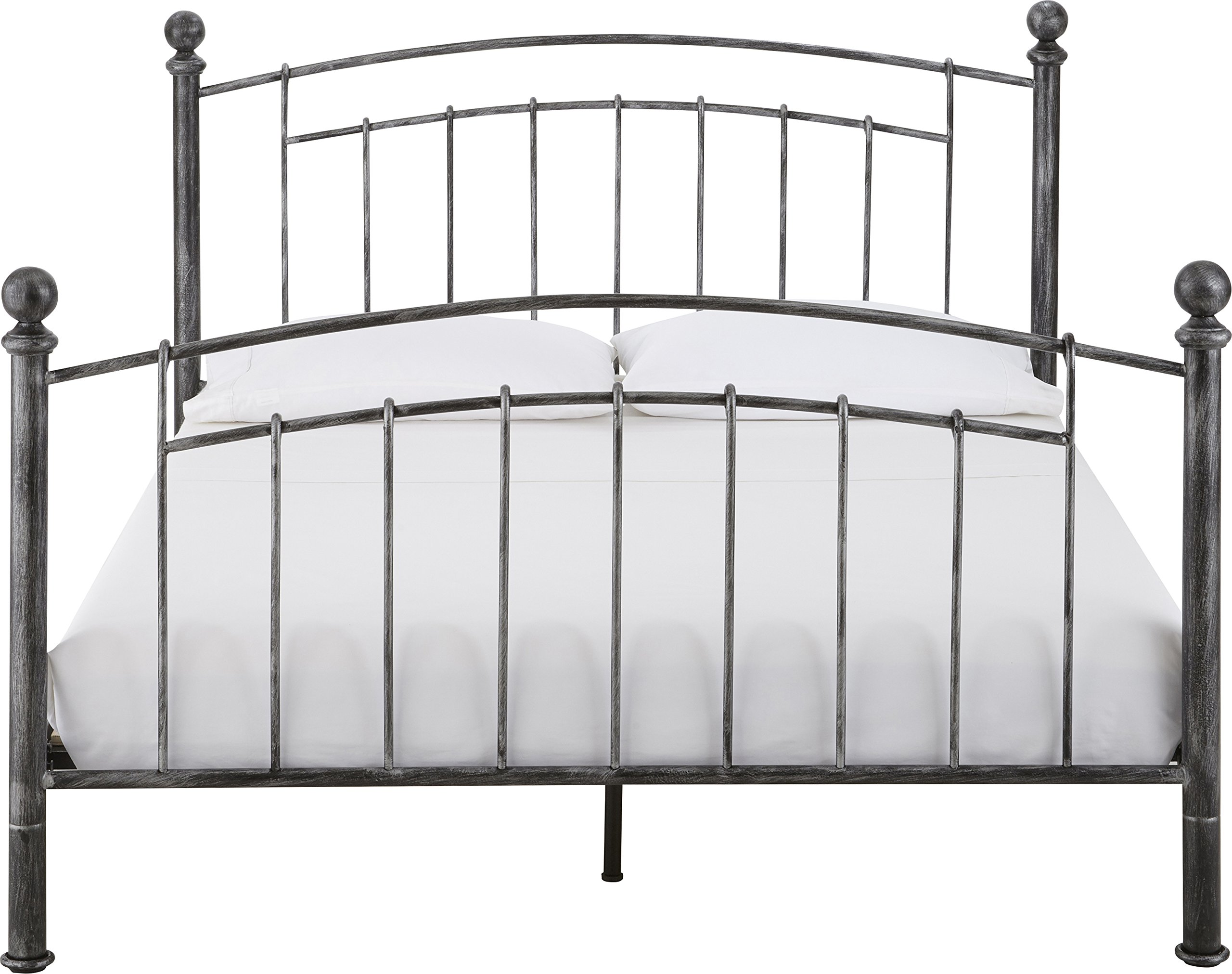 Flex Form Chandler Metal Platform Bed Frame / Mattress Foundation with Headboard and Footboard, Queen by Flex Form (Image #5)