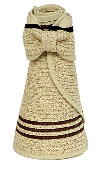 d2021f975 Karen Keith Paper Braid Wide Brim Roll Up Sun Visor Hat