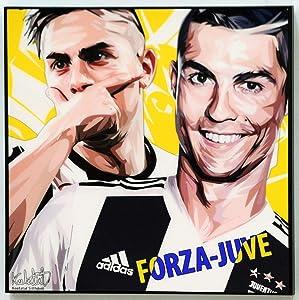 Ronaldo x Dybala Juventus Poster Quotes Wall Decals Photo Painting Framed pop Art Football Soccer