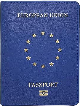 Funda para pasaporte de la UE con tarjetero – Funda de piel ...