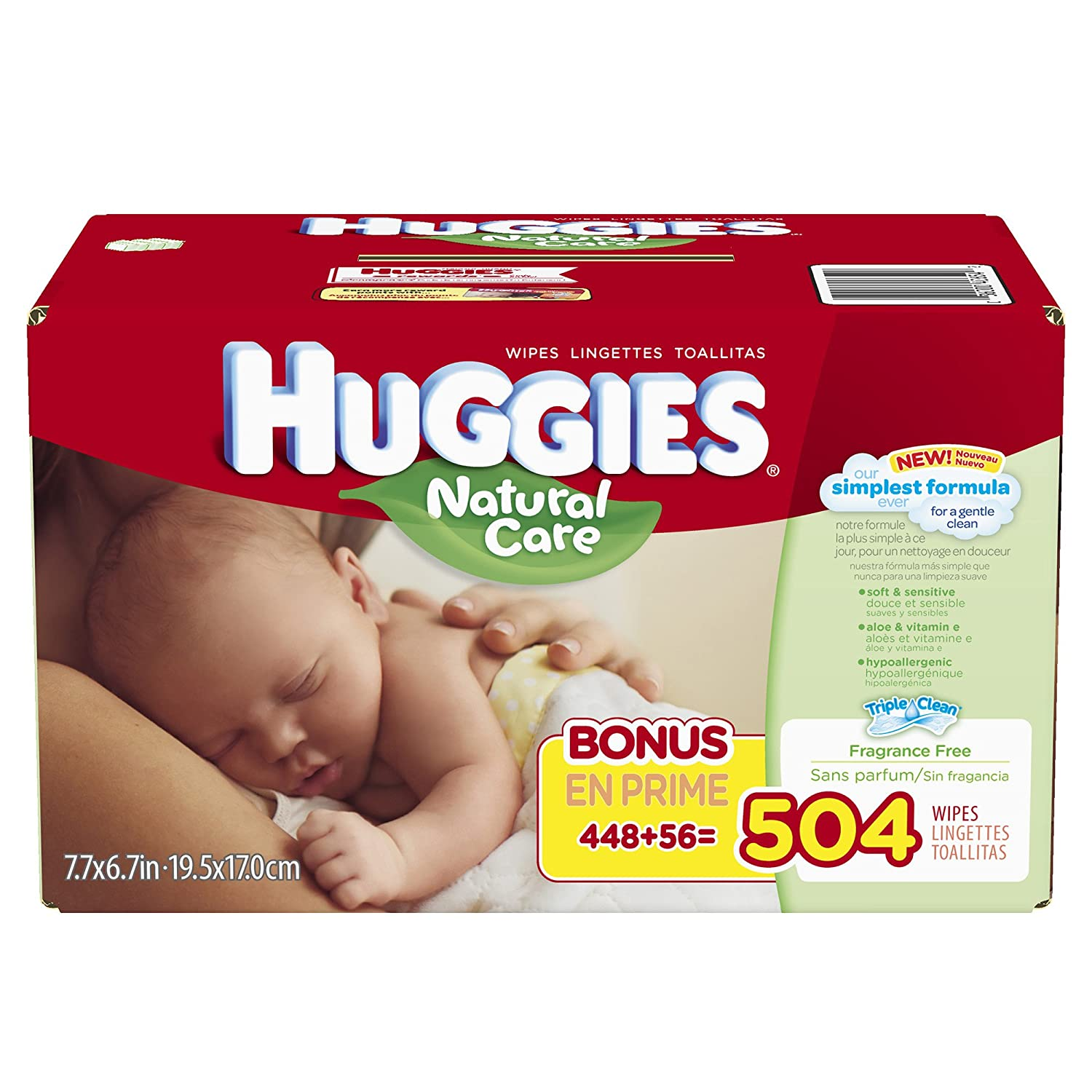 Amazon.com: Huggies Natural Care Baby Wipes Case - 616 ct: Health & Personal Care