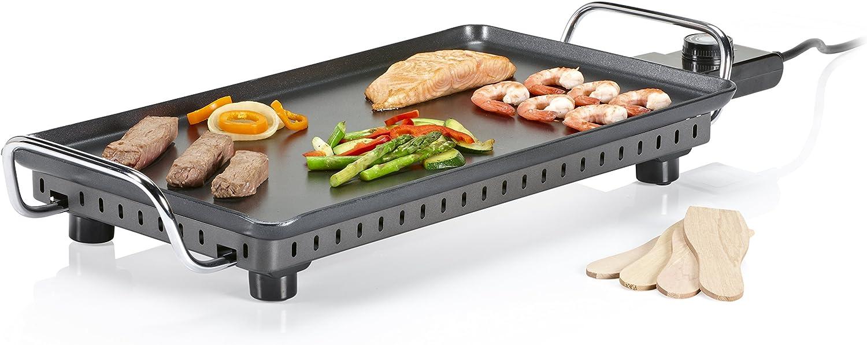 Princess Table Grill Superior - Parrilla Eléctrica, 2500 W, Color Negro
