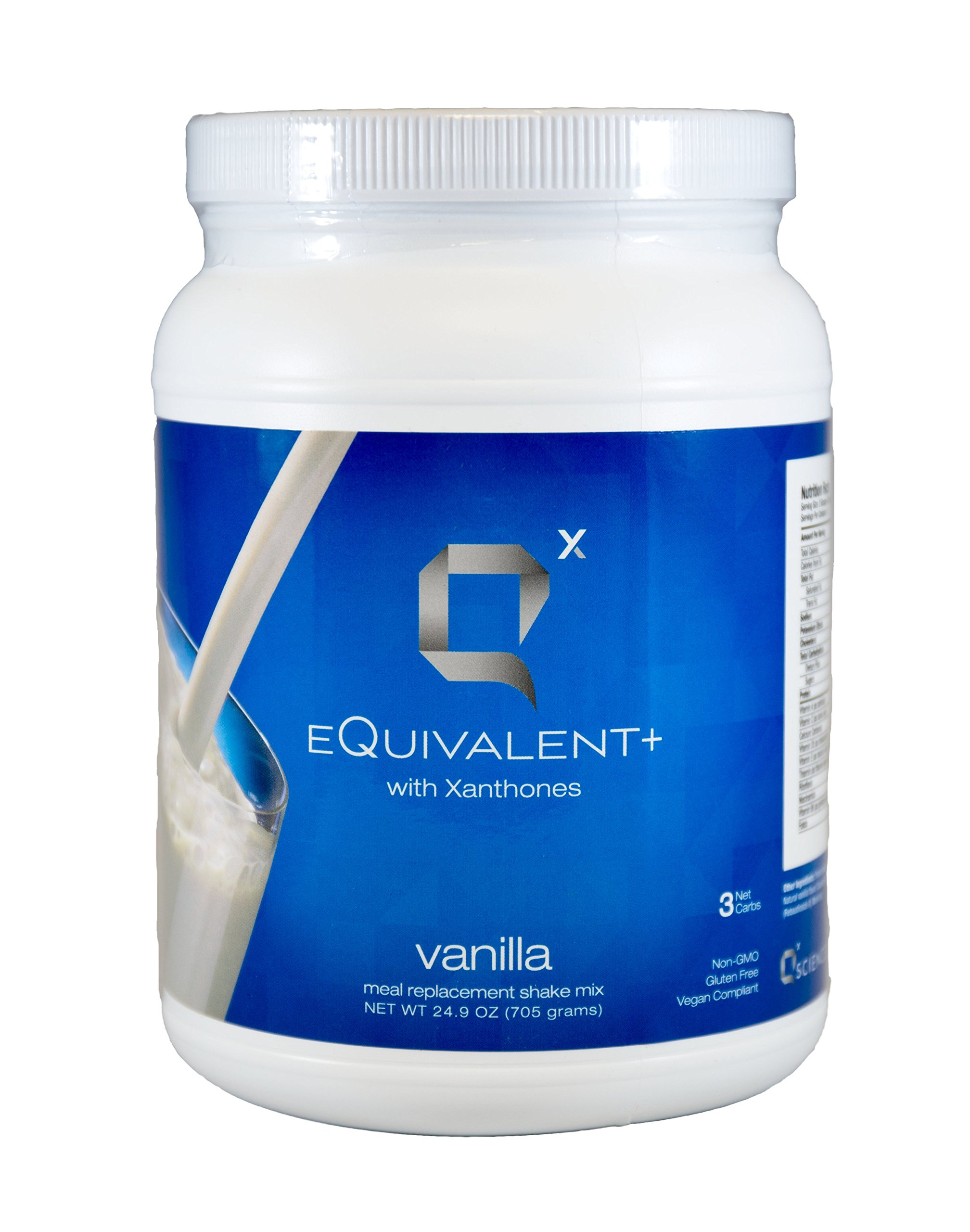 eQuivalent+ with Xanthones: Q Sciences Meal Replacement Shake, Protein Shake w/Enzymes & Antioxidants, Weight Loss Shake, Blood Sugar Regulation, Dietary Supplement Meal Replacement Powder 24oz