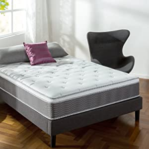 Zinus 12 Inch Performance Plus/Extra Firm Spring Mattress, Full