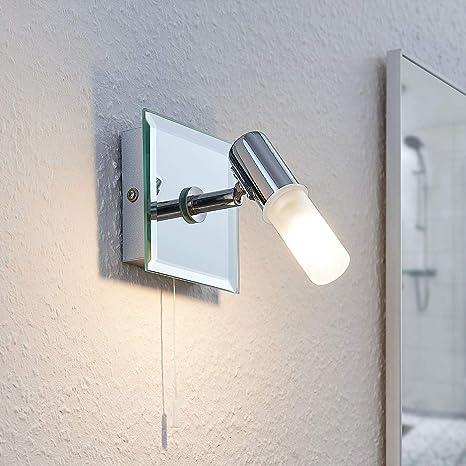 Lindby Wandlamp Zela Spritzwassergeschutzt Modern In Zilver Uit Overige Metaal O A Voor Badkamer Wandlamp Verlichting Wandverlichting Amazon Nl