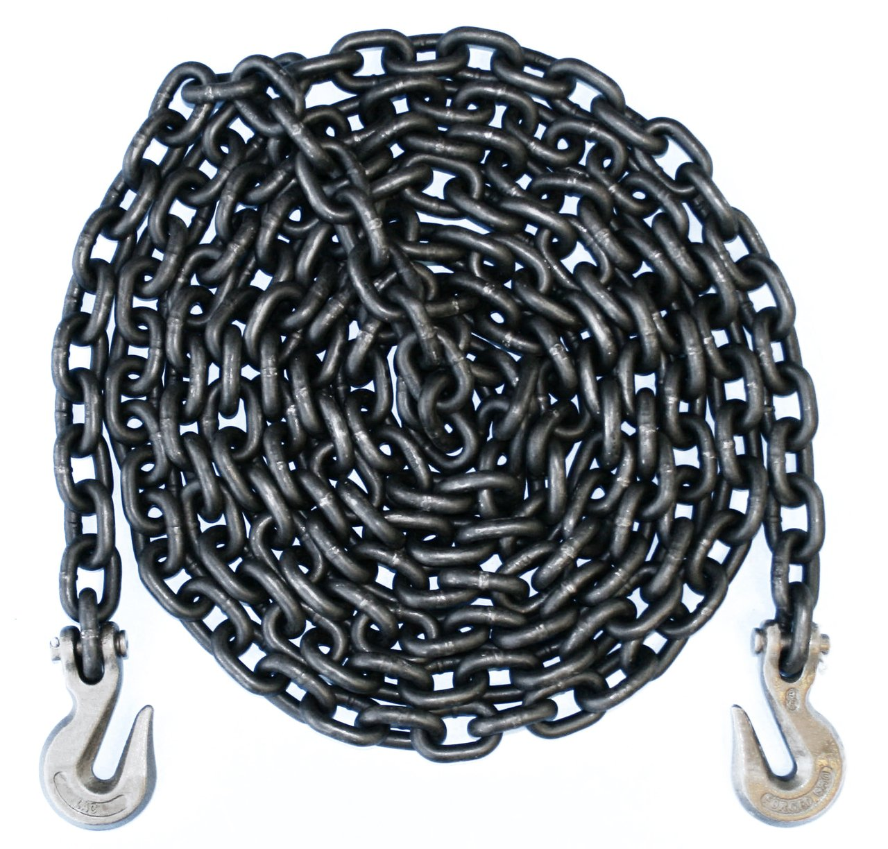 1/2'' - Grade 80 Binder Chain - Grab Hooks - 10' Length