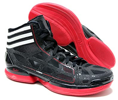 704572e87098 Adidas - Adizero Crazy Light Mens Shoes In Black   Running White  Red