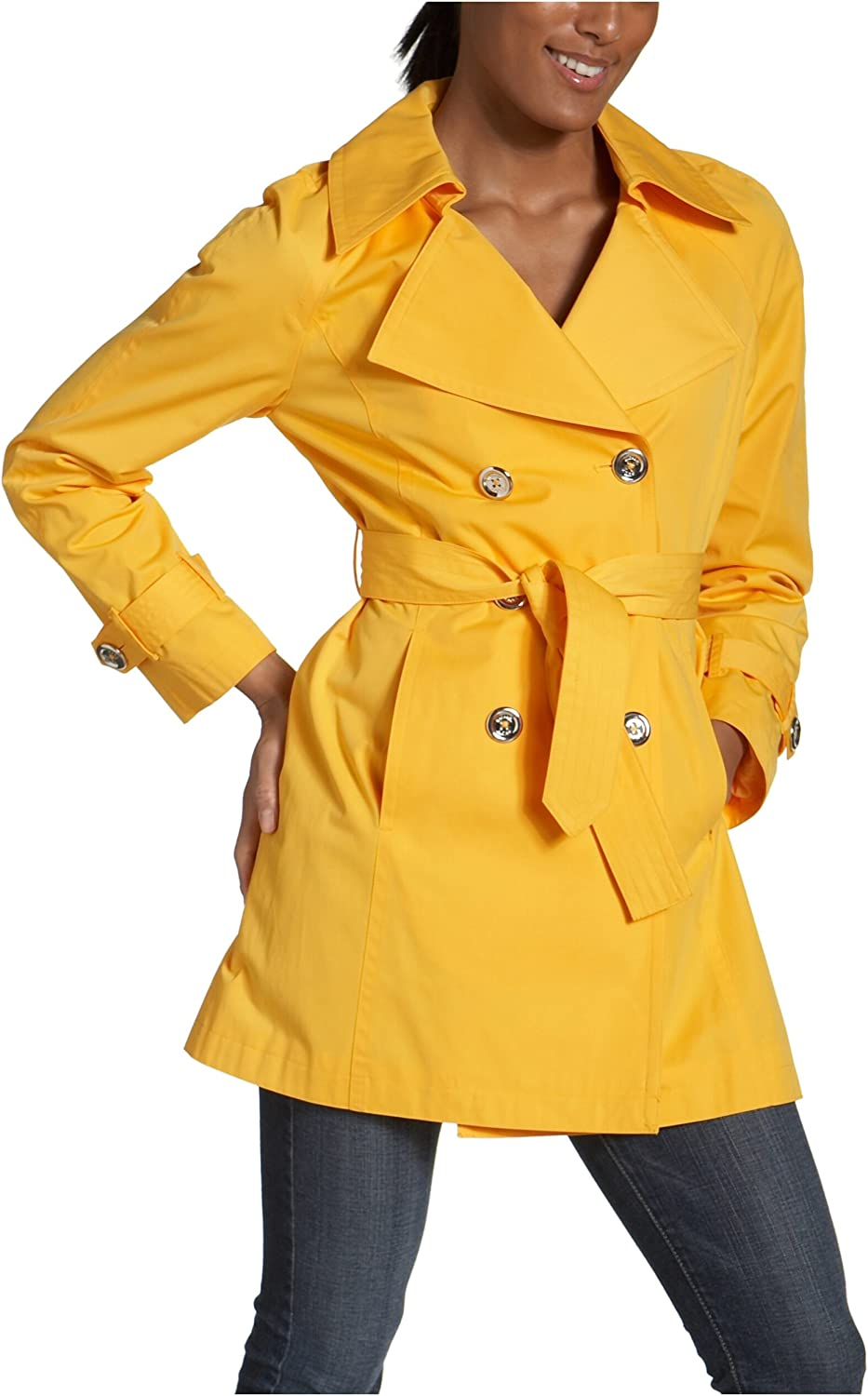 MICHAEL Michael Kors Women's Double Trench With All stores are sold Max 74% OFF Bu Breasted Logo