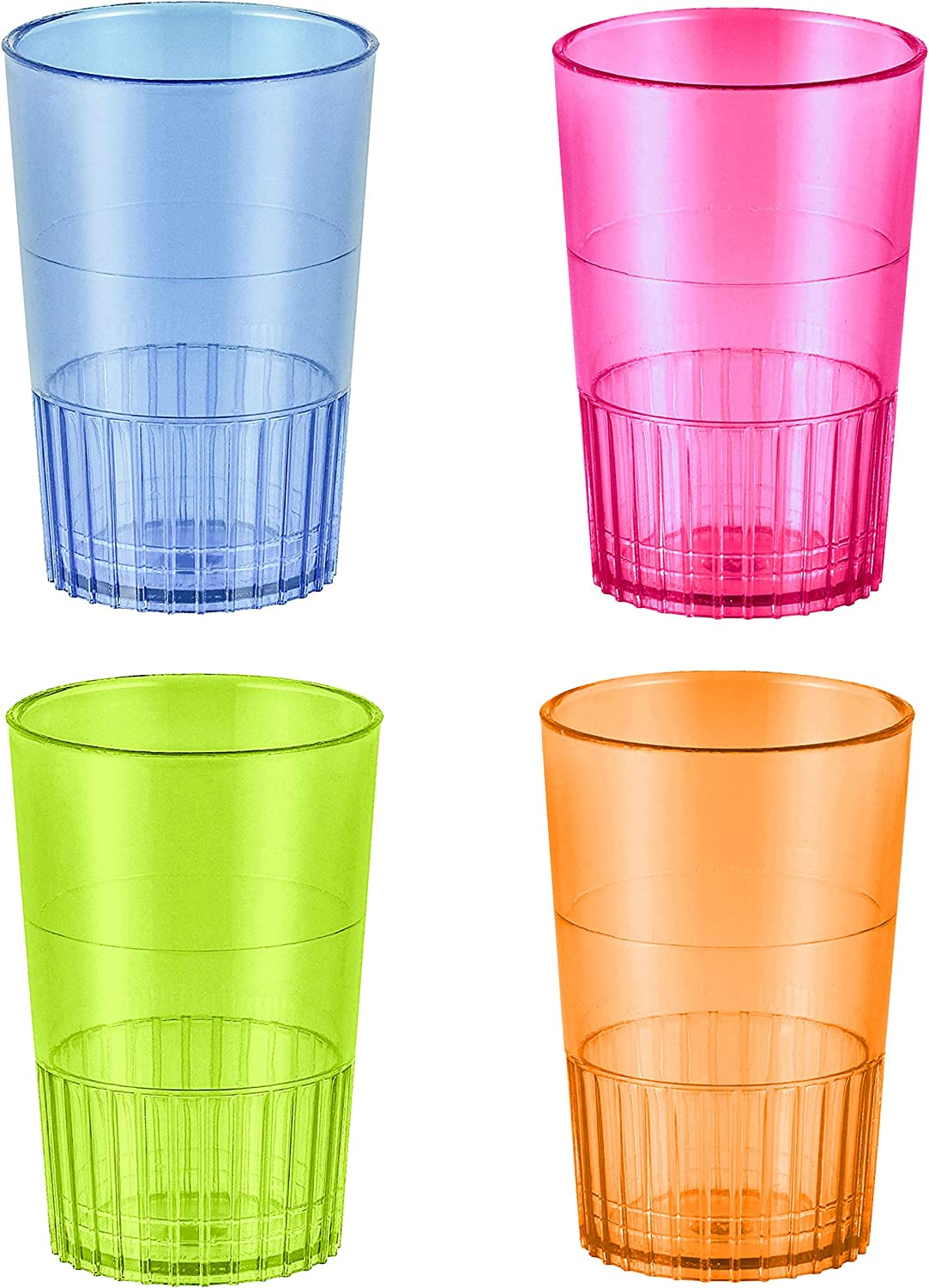 Pack Of 160 Disposable Party Hard PLASTIC 2 OZ Shot Glasses Cups PARTY Clear