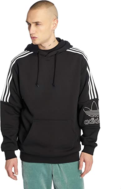 adidas Originals Men Hoodies Outline Black S: Amazon.co.uk