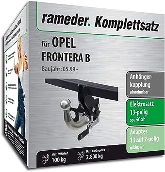 rameder Juego completo, remolque extraíble + 13POL Elektrik para Opel Frontera B (116969 - 03879 - 2): Amazon.es: Coche y moto