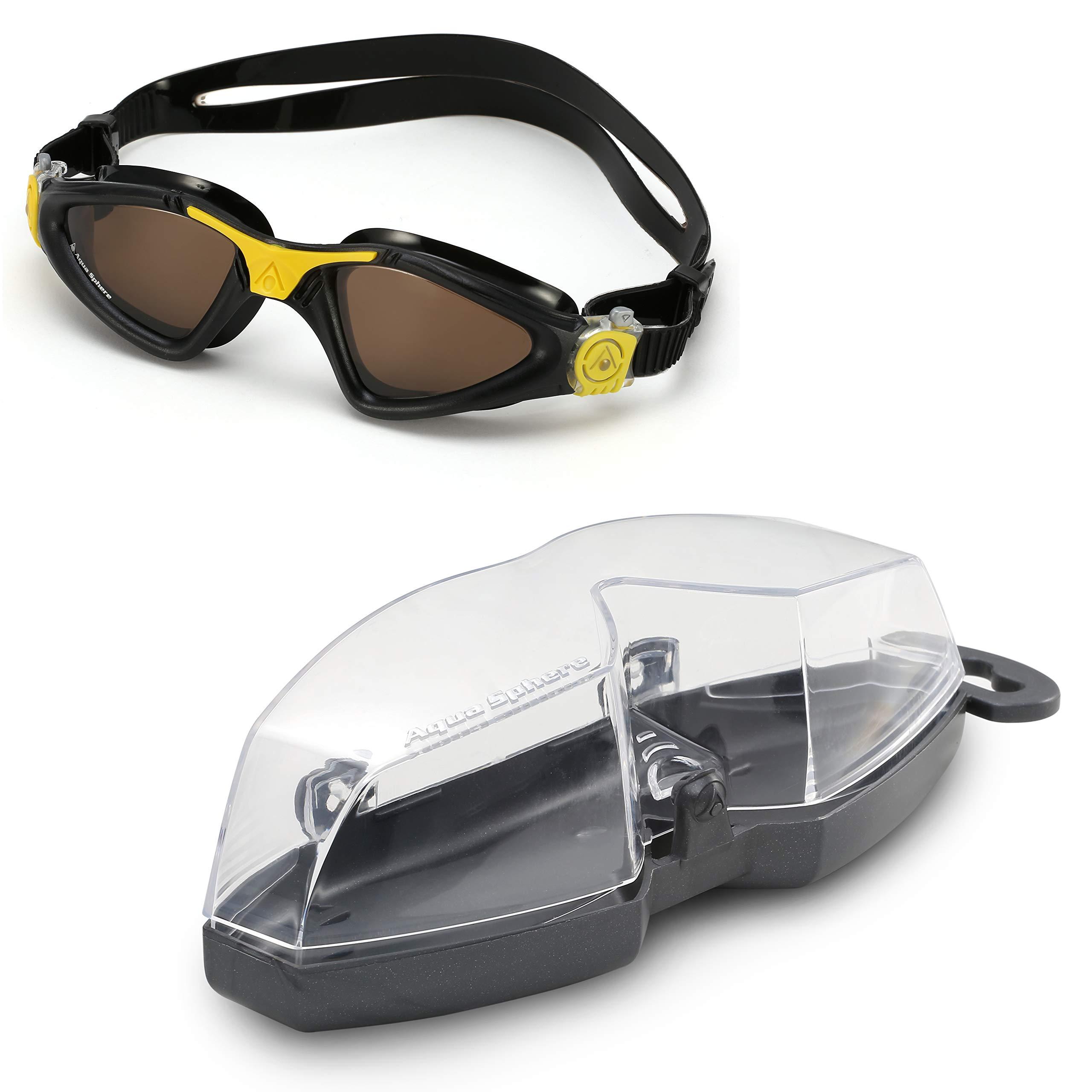 37e4f7b46ff Aqua Sphere Kayenne Swim Goggles with Polarized Lens (Black Yellow) -  EP122144   Goggles   Sports   Outdoors - tibs