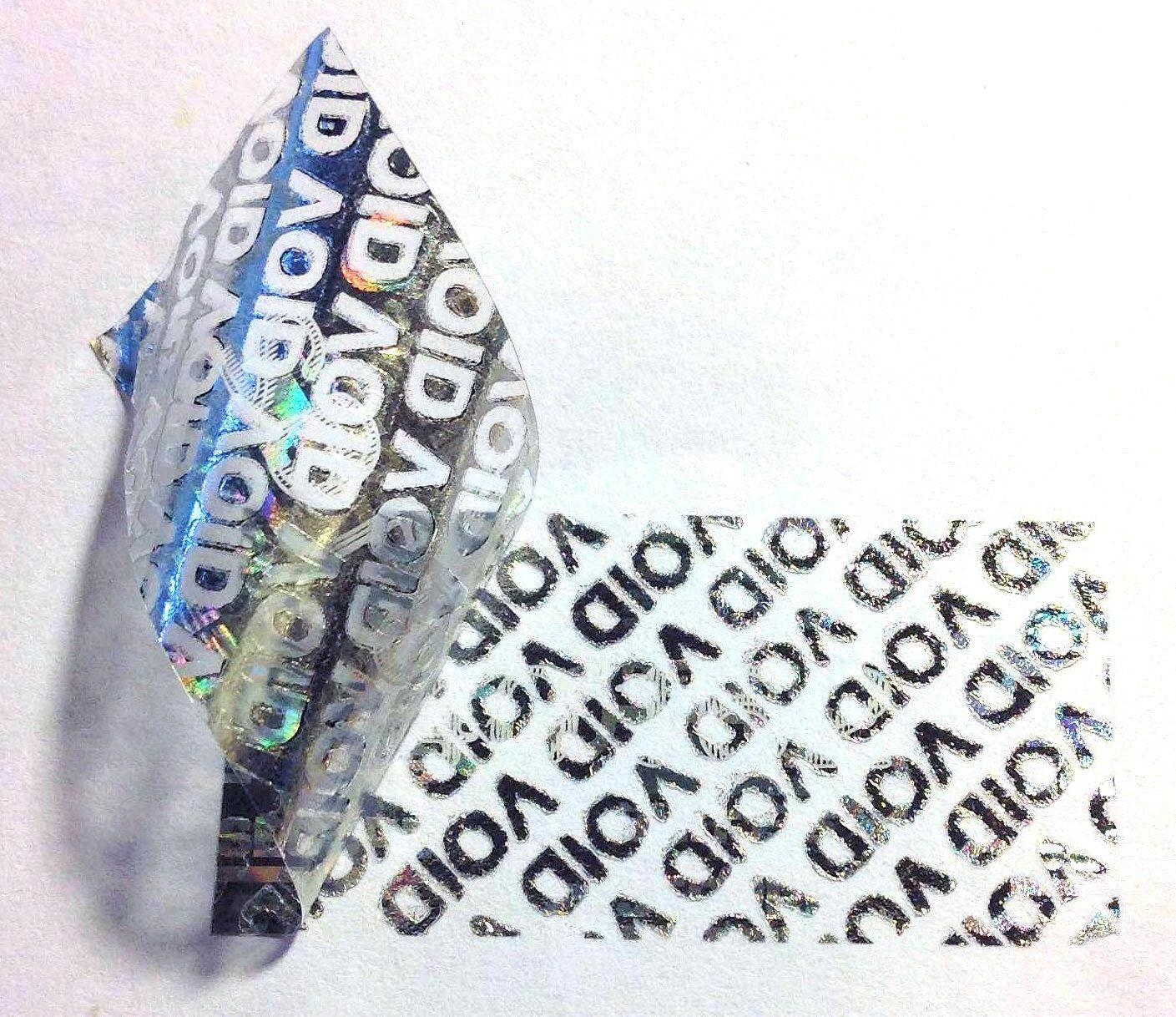 30 mm x 10 mm etiquetas garantía numerado etiquetas mm holograma pegatinas, rectangular, Original, con precinto, Secure, válida, auténtico, genuino, seguridad, color plata 07536a