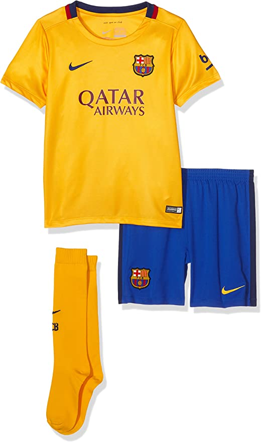 Nike FC Barcelona Away Little Kit - Equipación de fútbol para niño, Color Dorado/Azul, Talla XL: Amazon.es: Zapatos y complementos