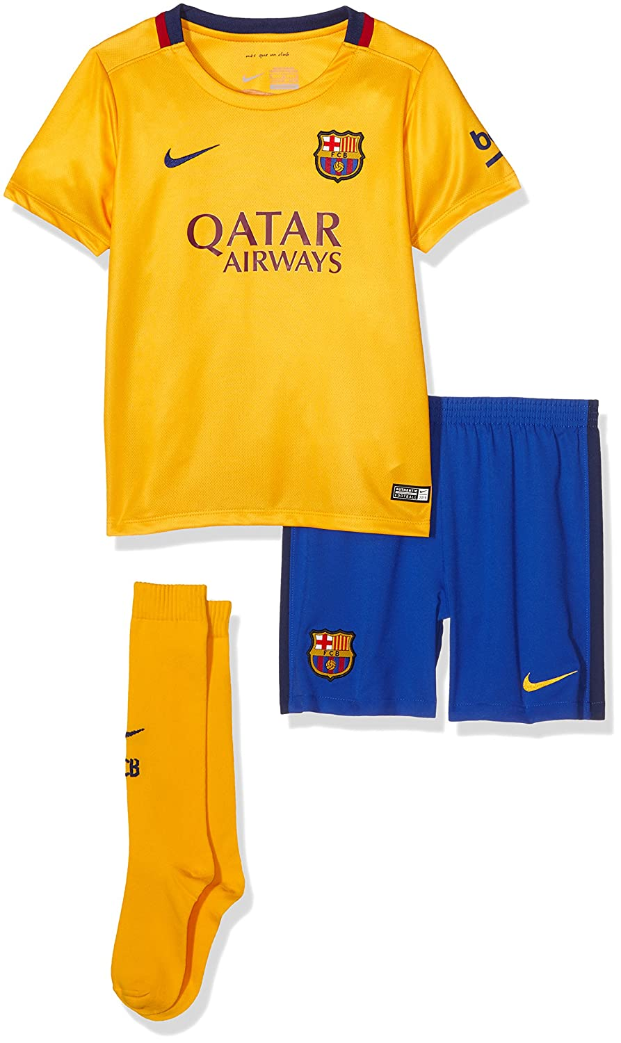 finest selection c427c 9a8cf Nike 2015/16 Boys FC Barcelona Away Kit [University Gold]