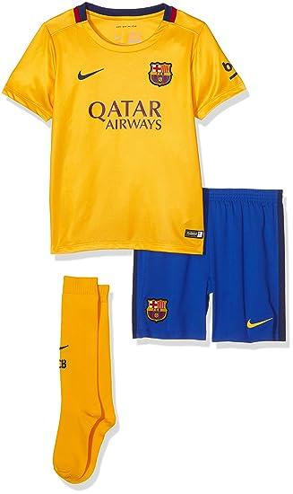 536fa420b6e Nike FCB Away LB Kit – Complete Suit Football Club Barcelona 2015 2016  Unisex