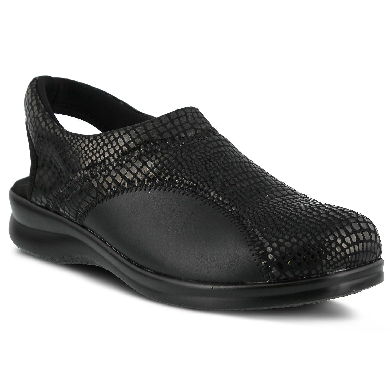Flexus by Spring Step Women's Flexia Flat B00WQBBGC2 36 EU/5.5-6 M US|Black Python