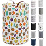 """Haundry Thickened Large Laundry Hamper with Durable Handle,21.6"""" Tall Round Laundry Basket for Clothes Storage"""
