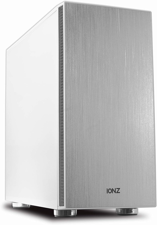 ionz Micro ATX Cool Arctic - Carcasa para Torre de Ordenador (Aluminio Cepillado), Color Blanco: Amazon.es: Electrónica