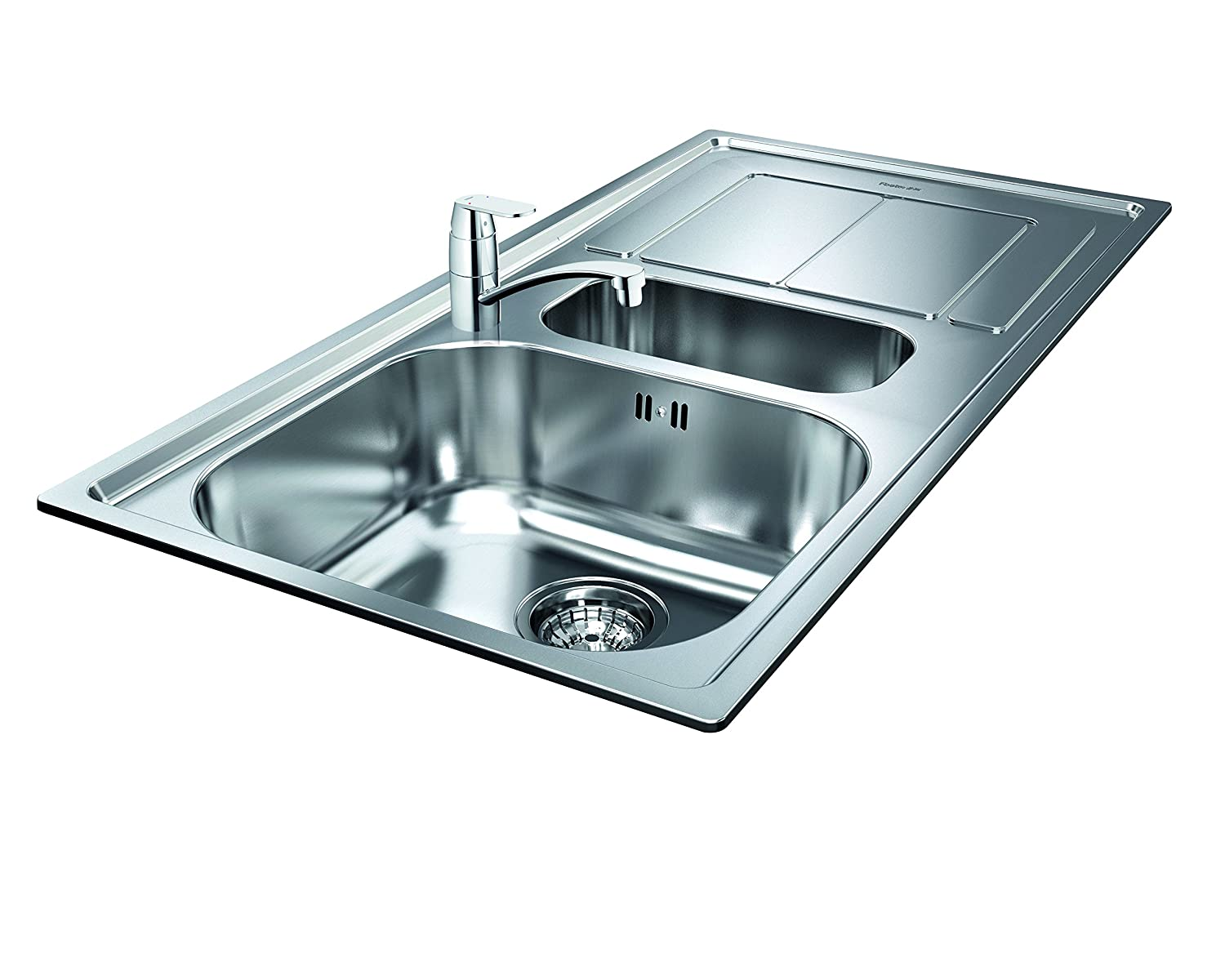 GROHE 122443 Eurosmart Cosmopolitan Kitchen Tap and Foster Moon 1.5 ...