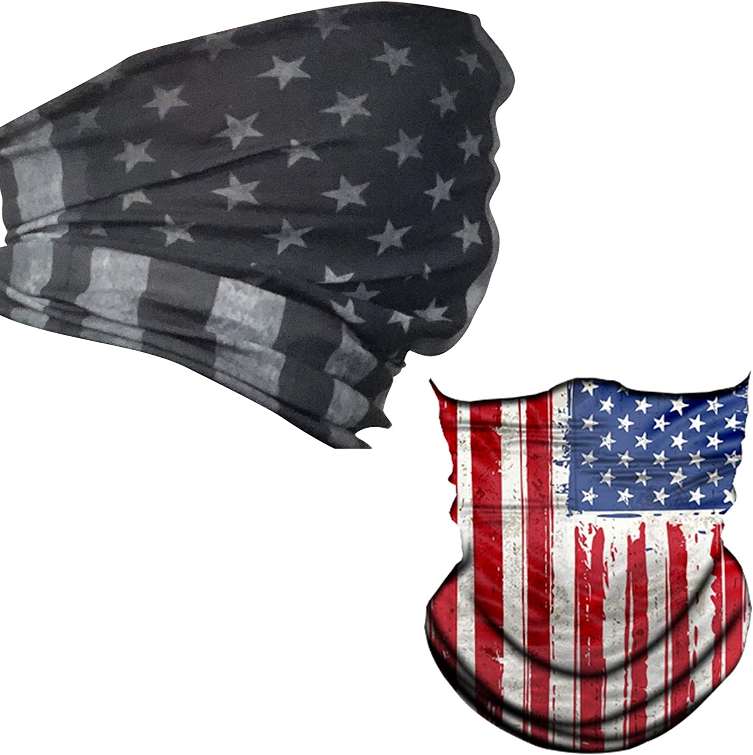 Independence Day Accessories American Flag Balaclava USA Flag Heart Neck Gaiter 4th of July Scarf American Bandana Love USA Tube Scarf