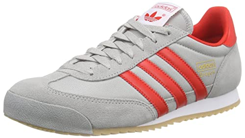 adidas Men's Dragon Trainers Grey Grau (MGH Solid Grey/Red/Gold Met.) 7.5  UK (41.33 EU): Amazon.co.uk: Shoes & Bags