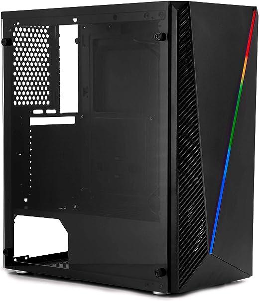 DeepGaming DeepAbyss - Caja gaming de PC ATX/micro ATX con 16 modos de iluminación RGB, ventana lateral de cristal templado, soporte hasta 6 ventiladores: Coolbox: Amazon.es: Informática